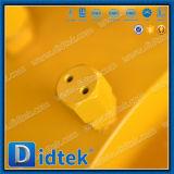 Los extremos del borde del acero de carbón de Didtek soldaron completamente la vávula de bola con el engranaje de gusano