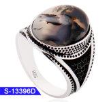 In het groot Nieuwe Model Turkse & Arabische Stijl 925 de Echte Zilveren Ring van de Steen van de Juwelen van de Manier Islamitische voor Mensen