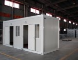 Maison modulaire de conteneur de la colle d'Anti-Tremblement de terre de coût bas évalué vivant d'incendie
