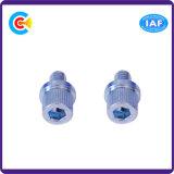 Aço carbono/4.8/8.8/10.9 Fixador galvanizado personalizados cilíndrico Hexagonal/Parafusos de Cabeça Cilíndrica
