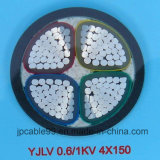 Baixo cabo de alumínio isolado PVC da tensão XLPE
