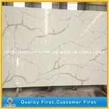 PolierCalaccatta weißer künstlicher Steinquarz für Countertops, Wand-Fliesen