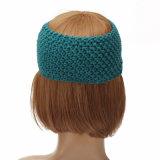 맨 위 포장 Hairband 머리띠 Headwear 머리 악대 부속품이 Ear Warmer Crochet Bowknot 겨울 여자 숙녀 터번에 의하여 뜨개질을 했다