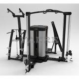 Commerciële Combo multi-Gymnastiek 4 de Apparatuur van de Bouw van het Lichaam van Posten/8 Functies