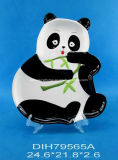 Panda-Shaped Hand-Painted de cerámica cookies/Caramelos/placa circular