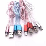 Cabo claro colorido do USB do diodo emissor de luz micro para o telefone móvel