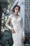 Vestido de casamento nupcial Wd1709 do trem da sereia de 2017 laços