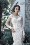 Платье венчания Wd1709 поезда Mermaid 2017 шнурков Bridal
