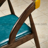 Jogo de madeira moderno da mobília do restaurante com cadeira estofada (SP-CT811)