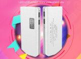 côté portatif du pouvoir 10000mAh avec l'éclairage LED