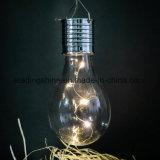 Haing dans la quirlande électrique actionnée de décoration de lumière d'ampoule d'Edison de panneau solaire de jardin