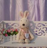 Brinquedo de pelúcia de coelho com ovelhas longas com saco