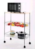 El estante del alambre de metal/los estantes de visualización durables del alambre para el uso práctico de la cocina empuja suavemente