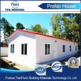 Casa del panel prefabricada ligera de emparedado del marco de acero