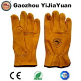 Grano superior de piel de vaca conductores trabajan guantes