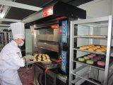 Horno eléctrico grande vendedor caliente de la cubierta de la capacidad de hornada para la pizza