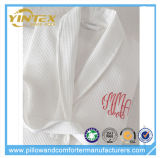 Diseño de logotipo personalizado Confortable Waffle Cloth Bathrobe