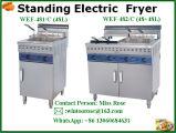 Rifornimento popolare Steeel inossidabile commerciale che si leva in piedi friggitrice elettrica