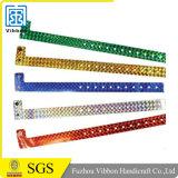 Form-Vinylkundenspezifische Plastikwristbands-Armbänder