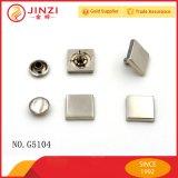 Jinzi Metal 12mm Square Head Rivet Nail Button para Vestuário e Bolsas