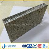 Panneau en aluminium de nid d'abeilles de vente des graines chaudes de pierre pour des matériaux de construction