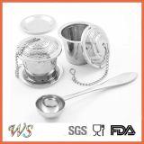 Ws-If003s Tea Infuser Set Filtro de chá de aço inoxidável Filtro de chá Acessórios Set com colher de chá