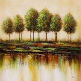 Pittura a olio astratta della riproduzione per gli alberi