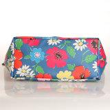Madame florale Handbag (99189-2) de configurations de toile noire de PVC