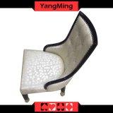 Das europäische feste Holz, das Stuhl-fester Schwenkerhölzernen Baccarat-Kasino-Stuhl mit Fußrollen speist, macht kundenspezifisches Ym-Dk05 ein