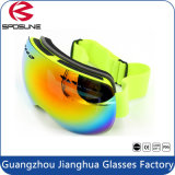 Lunettes protectrices UV sphériques de ski de surf sur neige de regain des lunettes 100% de neige de couche duelle anti