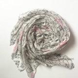 Écharpe de mode de polyester estampée par coeur en gros (HM081)