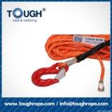 Fibra 100% resistente de Uhwmpe da corda da corda sintética do guincho Orange7mmx28m4X4