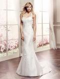 Vestidos nupciais plissados do vestido de casamento de Organza do plissado do querido