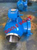 válvula de esfera 150lb/300lb/600lb/900lb inteiramente soldada com engranzamento da tela (GAGLQ61PPL)