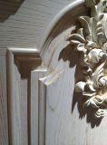 Porte extérieure en bois massif populaire pour villa ou appartement (YMJ-201)