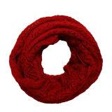 Шаблон скручивания женщин вязаные зимние круг цикла Без шарфа Snood (SK104)