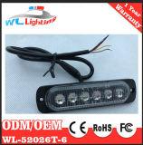 최고 호리호리한 지상 마운트 경고등 6 LED 번쩍이는 램프