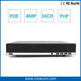 Rete facile NVR di sorveglianza 16CH 4MP P2p di obbligazione di funzionamento