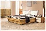 Самомоднейшая мебель спальни дома гостиницы твердой древесины типа