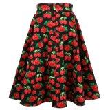 в юбках партии длины маятника Stock печати клубники больших для женщин