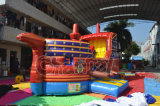 子供のための赤いカラーバッカニアの極度の涼しい船の膨脹可能なスライド