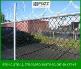 Maillon de chaîne sur le fil du rasoir de clôture de sécurité concertina