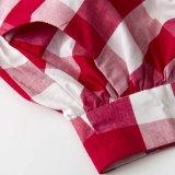 Baumwollpopelin plus Größe gefiel Plaid-Fußleisten-Frauen-kundenspezifischen Fußleisten