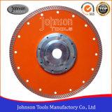 blad van de Zaag van 230mm het Turbo voor het Knipsel van het Graniet met Hoge Prestaties