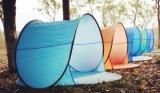 فرقعت فوق خيمة يستعمل في شاطئ رمل شاطئ خيمة