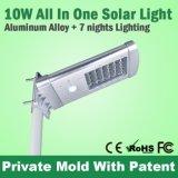 fabricante ligero solar IP65 del camino LED de la calle de la alta calidad barata del precio 10W