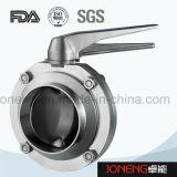 Нержавеющая сталь Сварные Пищевая промышленность клапан-бабочка (JN-BV2002)