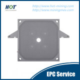 Le matériel solide et liquide partie la plaque de filtre-presse de membrane