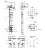 Tipo levantador material (TD315) del compartimiento de la correa de la serie de TD