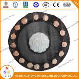 Câble d'alimentation à un noyau d'écran protecteur de câblage cuivre de gaine de PVC d'isolation du système mv 90 750mcm taux de pression moteur de conducteur